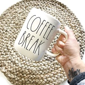 "Rae Dunn | ""Coffee Break"" White Ceramic Mug"